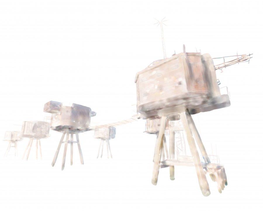 Aquarelles numériques de la série Doppelgänger