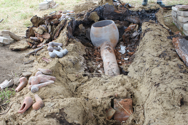 La radieuse, pipe en terre