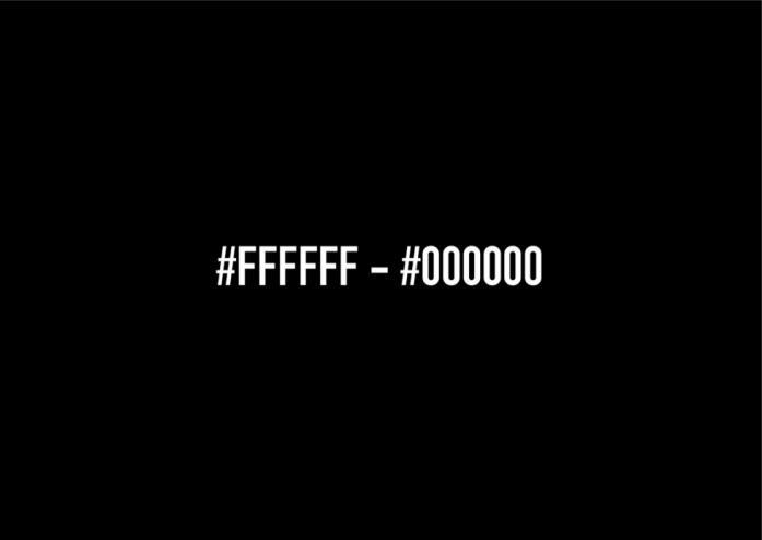 #FFFFFF #000000