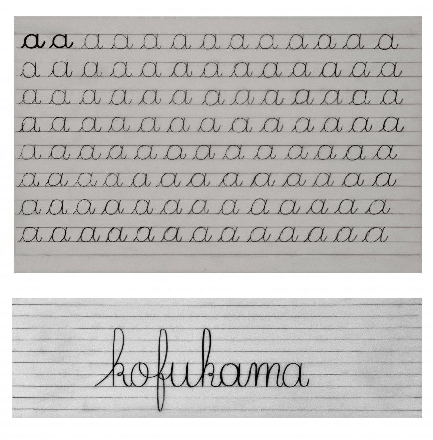 Leçon d'écriture