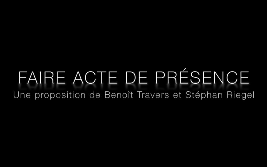 Vidéo Faire acte de présence/Workshop Performance