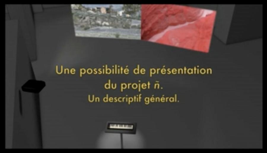 Une possibilité de présentation du projet ñ