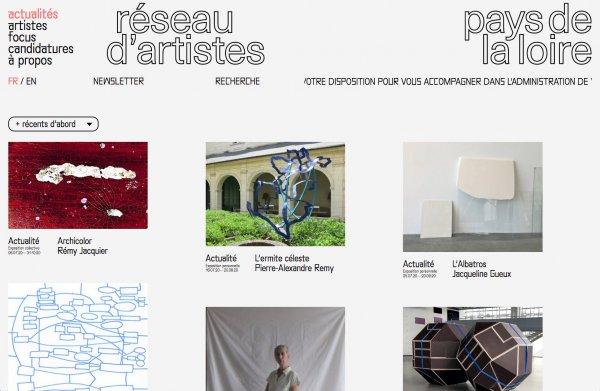 Bienvenu.es sur le nouveau site de réseau d'artistesen Pays de la Loire !