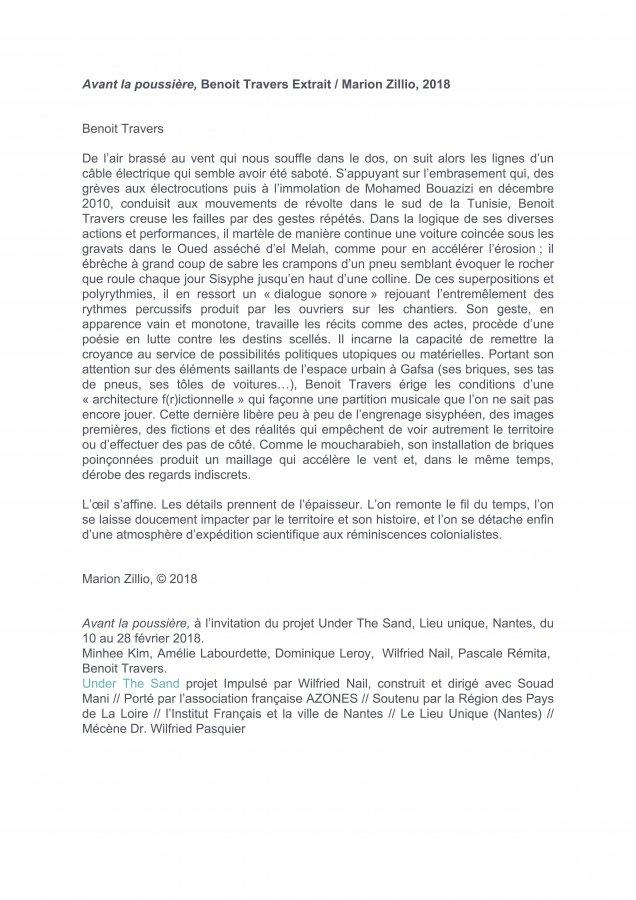 Textes / Marion Zillio, Mya Finbow, Clara Muller